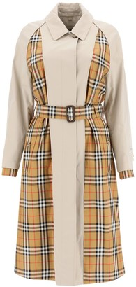 Burberry Guisley Vintage Check Printed Trench Coat