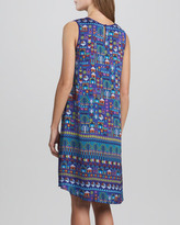 Erin Fetherston Selina Folk Art Printed Sleeveless Dress