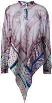 MSGM patchwork tunic - women - Silk - 38