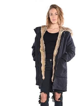 Esprit edc by Women's 096CC1G015 Coat, Blue (NAVY), (Manufacturer size: Large)