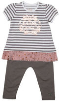 Guess Striped Combo Dress and Leggings Set