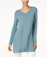 Eileen Fisher Tencel® V-Neck Tunic Sweater