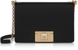 Furla Black Leather Mimi Mini Crossbody Bag