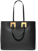 Sophie Hulme Albion Textured-leather Tote - Black