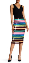 Tracy Reese Multicolor Sequin Slim Skirt