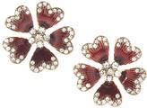 Carole Worn Goldtone Flower Stud Earrings
