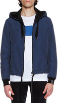 Lanvin Hooded Zip-Front Jacket, French Blue