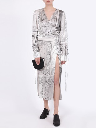 Amiri Silk Bandana Print Dress