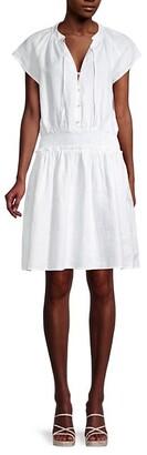 Saks Fifth Avenue Smocked Linen Dress