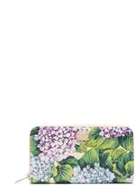 Dolce & Gabbana Hydrangea-print zip-around leather wallet