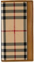 Burberry 'Murphy' Horseferry check fold over wallet - men - Calf Leather/Polyamide - One Size