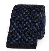 Canali 6cm Knitted Silk And Cashmere-blend Tie - Navy