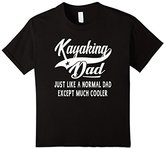 Kids Men's Kayaking Dad Father's Day Gift Men Kayaker T-shirt 4