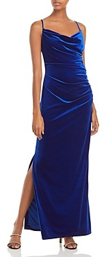 Laundry by Shelli Segal Ruched Velvet Slip Dress