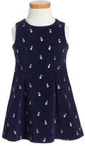 Little Marc Jacobs Toddler Girl's Cherry Print Velvet Dress