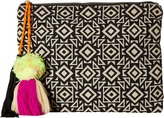 San Diego Hat Company BSB1696 Woven Pattern Canvas Clutch Clutch Handbags