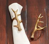 Pottery Barn Gold Antler Napkin Ring, Set of 4