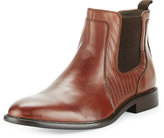 English Laundry Edgeware Leather Snake-Embossed Boot, Brown