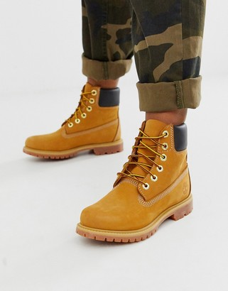 Timberland 6 Premium Wheat leather ankle boots-Beige