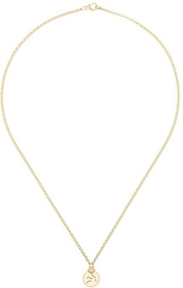 Foundrae 18kt gold Sparrow charm necklace