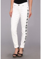 CJ by Cookie Johnson Wisdom Ankle Skinny Roll-Up w/ Tearing in Optic White