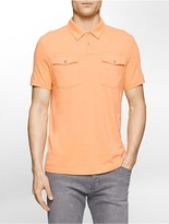 Calvin Klein Slim Fit Tonal Stripe Polo Shirt