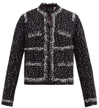 Giambattista Valli Speckled-boucle Wool-blend Tweed Jacket - Black Multi