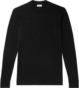 Sunspel Slim-Fit Merino Wool Mock-Neck Sweater