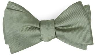 Tie Bar Grosgrain Solid Sage Green Bow Tie