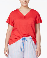 Karen Neuburger Plus Size Short-Sleeve Pajama Top