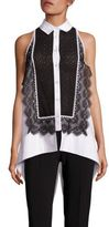 Antonio Berardi Sleeveless Lace Top
