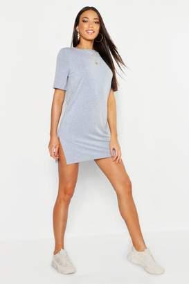 boohoo Short Sleeve Split T-Shirt Dress