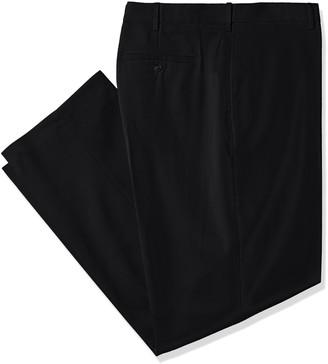 Savane Men's Big and Tall Flat Front Stretch Crosshatch Dress Pant