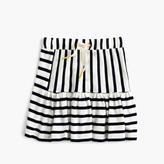 J.Crew Girls' pull-on stripe-panel skirt