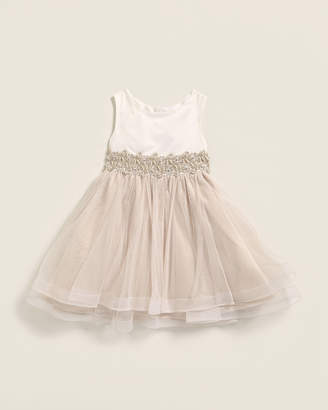 Rare Editions Toddler Girls) Faux Pearl Tulle Dress
