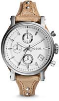 Fossil Original Boyfriend Chronograph Bone Leather Watch