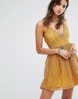 Missguided Crochet Lace Skater Dress