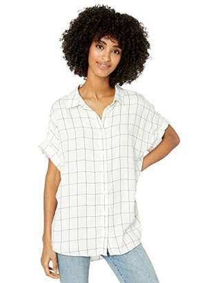 Goodthreads Modal Twill Short-sleeve Button-front ShirtL