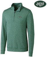 Cutter & Buck Men's New York Jets Shoreline Quarter-Zip Pullover