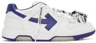 Off-White White and Purple Out Of Office Sneakers