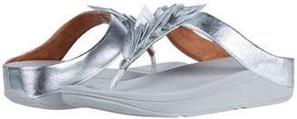 FitFlop Fino Leaf Toe-Thongs (Silver) Women's Shoes