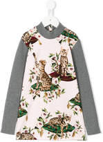 Dolce & Gabbana floral cat print top