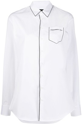 DSQUARED2 contrast piping blouse