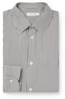 The Row Jasper Black Slim-Fit Striped Silk Shirt