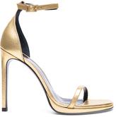 Saint Laurent Metallic Leather Jane Sandals