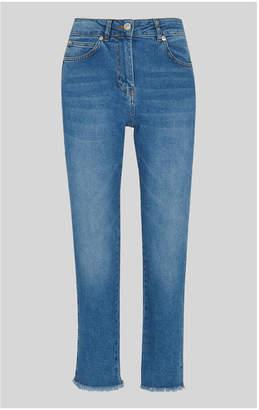 Whistles Slim Frayed Detail Jean