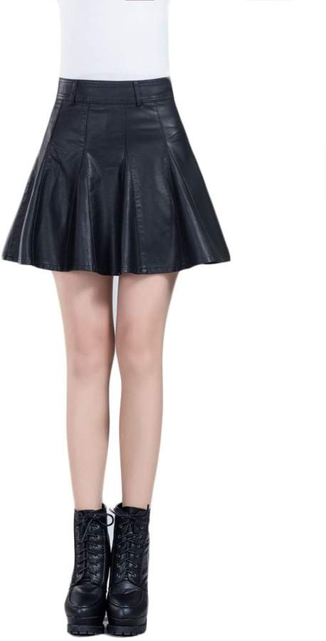 b561e3f449 Faux Leather Pleated Skirt - ShopStyle Canada