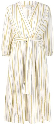 Forte Forte Striped Belted Dress