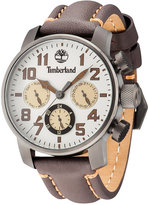 Timberland Men's New Market Brown Leather Strap Watch 45x55mm TBL14783JSU07