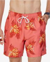 "Nautica Men's Quick Dry Tropical Print 6 1/2"" Swim Trunks"